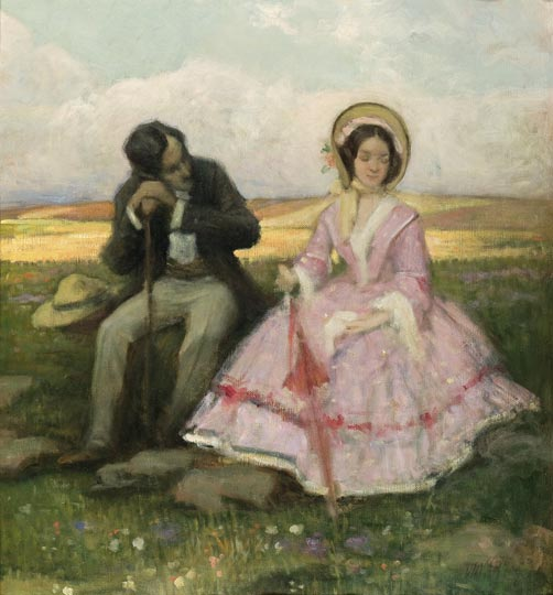 Courting by Géza Udvary, 19th century.
