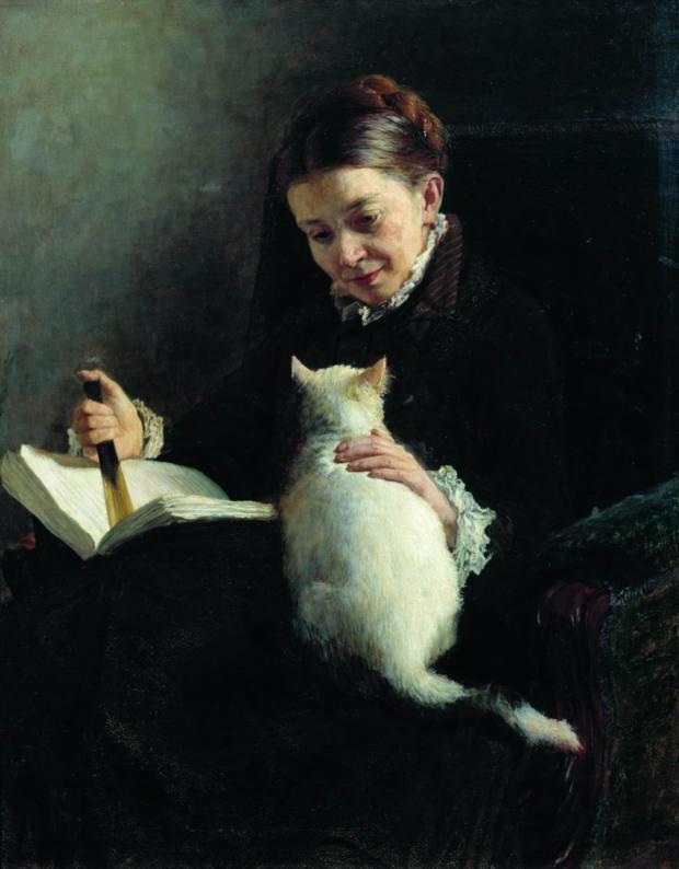 Elizabeth Platonovna Yaroshenko by Nikolai Yaroshenko, 1880.