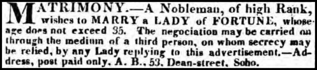 Morning Post, June 25, 1823.