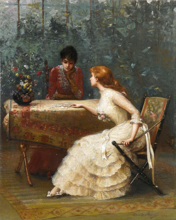 question to the cards by douard bisson 1889