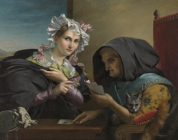 The Fortune Teller by Adele Kindt, 1835.