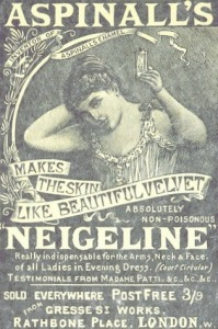 Aspinall's Neigeline Advert., 1894.