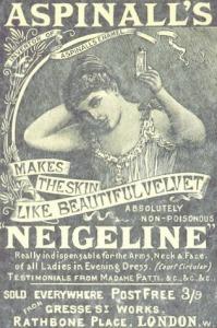 Aspinall's Neigeline Advert., 1894.