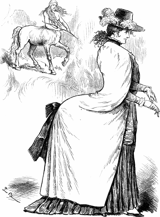 Centaur and Bustle, Fliegende Blätter Magazine, 1880s