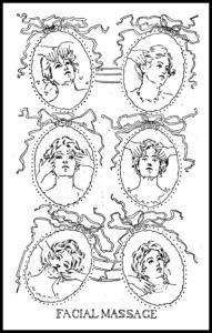 Facial Massage, The Woman Beautiful, 1897.