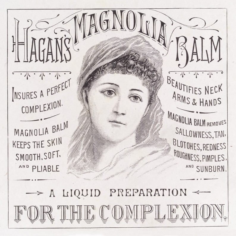 Hagan's Magnolia Balm advert, 1890.(Image via Wellcome Library)