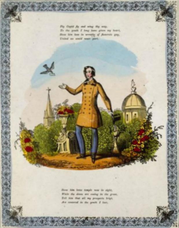 valentine card mid 19th century 2 via victoria and albert museum