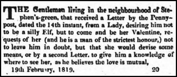 Saunders's News-Letter, February, 20 1819.