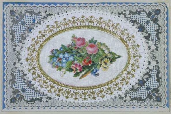 Valentine's Day Card, 1864.(Image via Victoria & Albert Museum)