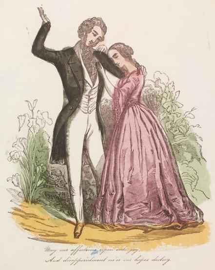 Valentine's Day Card, 1860.(Image via Victoria and Albert Museum)