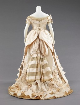 1872 House of Worth Ball Gown.(Image via Met Museum)