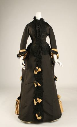 1873 French Silk Dress . (Image via Met Museum)