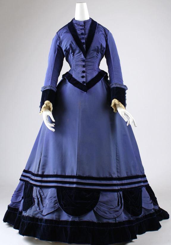 1874 French Silk Dresss.(Image via Met Museum)