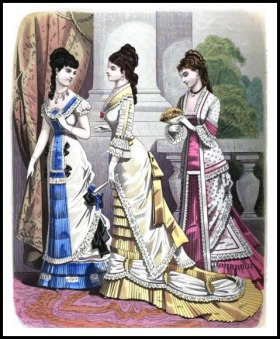 London and Paris Ladies Magazine of Fashion, 1877.