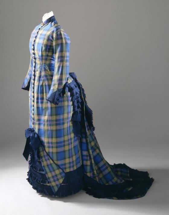 1878 Young Woman's Plaid Silk Dress.(Image via LACMA)