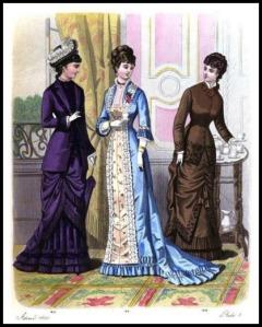 Lewisham Tea Gown, London and Paris Ladies' Magazine of Fashion, 1879.