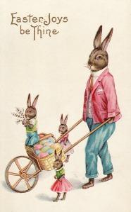 Easter Bunny Postcard circa 1915.