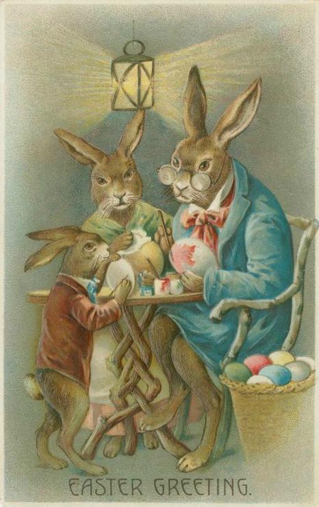 Easter Card circa 1908.(Image via New York Public Library)