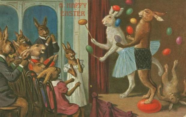 Easter Card circa 1909.( Image via New York Public Library)