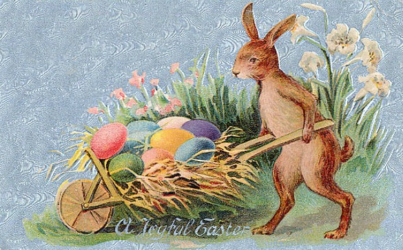 Easter Card, 19th Century.(Image via Santa Clara County Library)