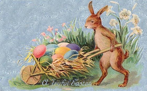 Easter Card, 19th Century.(Image via Santa Clara County Library)