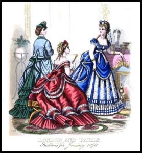 London and Paris Ladies' Magazine of Fashion, 1870.