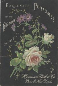 Herman Loeb & Co Perfume Advert, 1900.