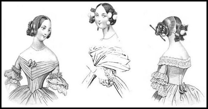 1840's hairstyle on Pinterest | Early Mid Nineteenth Century Poe ...