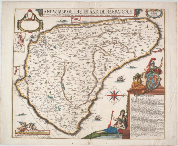 Map of the Island of Barbados, 1682.