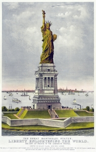 Statue of Liberty, Currier and Ives, 1885.