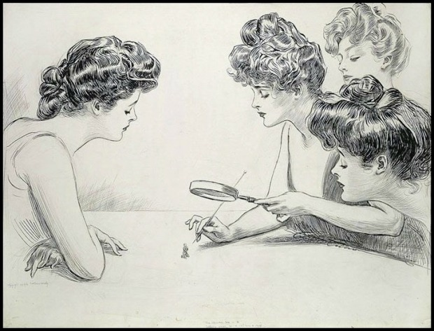 The Weaker Sex by Charles Dana Gibson, 1900.