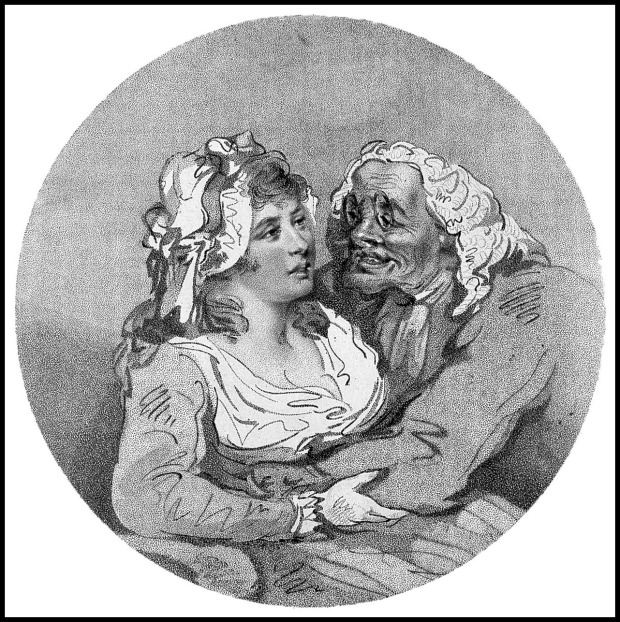 Dotage by Thomas Rowlandson, 1756-1827.>BR>(Wellcome Library, CC by 4.0) Copyrighted work available under Creative Commons Attribution only licence CC BY 4.0 http://creativecommons.org/licenses/by/4.0/
