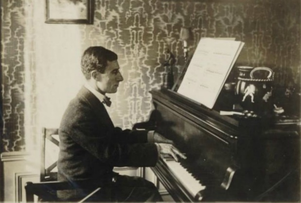 Maurice Ravel on the Piano, 1912.