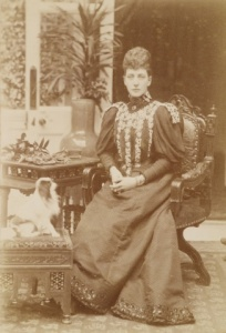 The Princess of Wales, later Queen Alexandra, with a small dog, 1890s.( Royal Collection Trust)