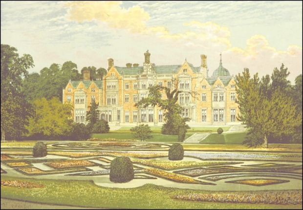 Sandringham, Norfolk, 1879.(County Seats of the Noblemen and Gentlemen of Great Britain and Ireland by Francis Morris)