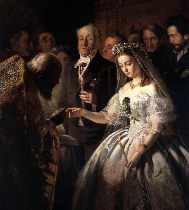 The Arranged Marriage by Vasili Pukirev, 1861.