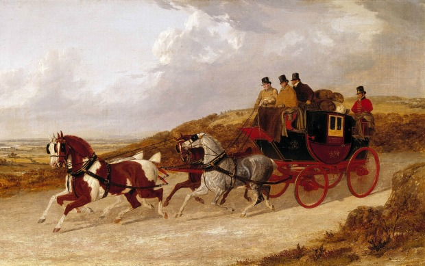 The Edinburgh and London Royal Mail by John Frederick Herring, 1838.