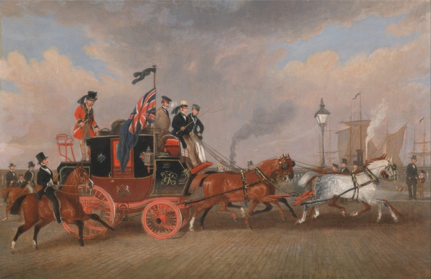 The Last of the Mail Coaches at Newcastle upon Tyne by James Pollard, 1848.