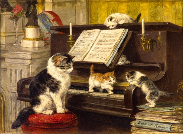 The Piano Lesson by Henriëtte Ronner-Knip, 1897.