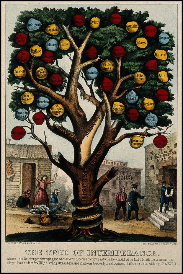 The Tree of Intemperance, 1872.(Wellcome Library, CC by 40)