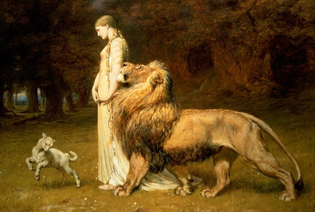Una and the Lion by Briton Rivière, 1840-1920.