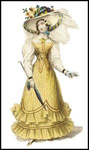 1827 Seaside Costume, Ackermann's Fashion Plate.