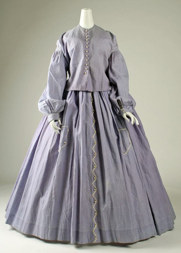 1860s American Cotton Dress.(Image via Met Museum)
