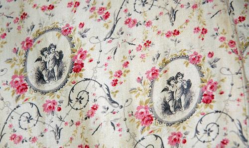 1878-1880 Printed Cotton Sateen Seaside Dress .(Image via Bowes Museum)
