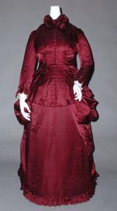1882 Silk Maternity Dress.(Image via Met Museum)