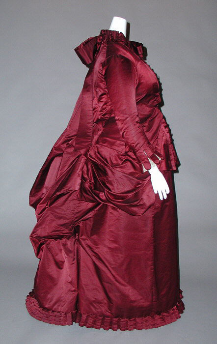 1882 Silk Maternity Dress via Met Museum