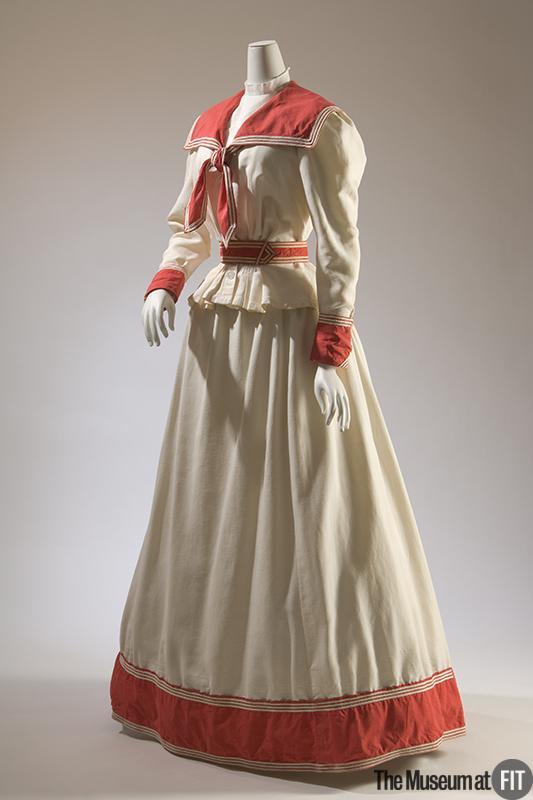 1895 Cotton Piqué Seaside Dress.(Image via Museum at FIT)