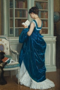 In the Library by August Toulmouche, 1872.