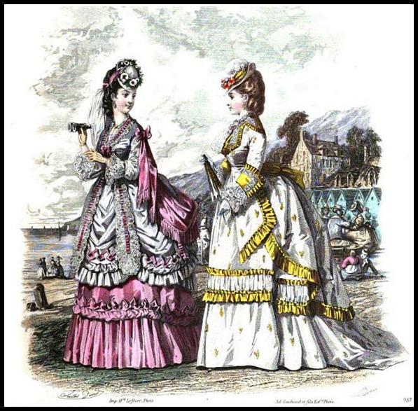 Seaside Costume, Milliner and Dressmaker Gazette, 1870.