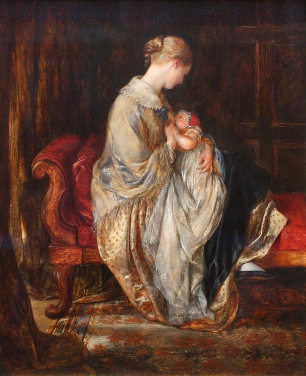 The Young Mother by Charles West Cope, 1845.(Image via Valerie McGlinchey CC BY 2.0)